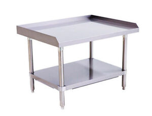 Stainless Steel Equipment Stand 36 Long X 28 Deep X 24 Height Adj Undershelf