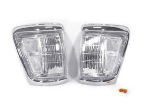 Depo Pair Of Clear Lens Front Corner Light For 1992 1995 Toyota Pickup Truck 4wd