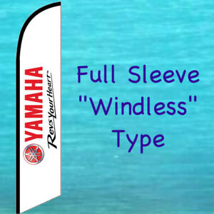 Yamaha Motorsports Revs Your Heart Windless Feather Flag Advertising Banner Sign
