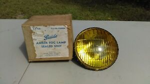 Nos 1948 1954 Chevy 6 8 Volt Guide 5 3 4 Amber Fog Light Lamp And Box