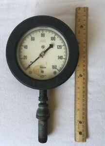 Rare Vintage Air Pressure Gauge Us Gauge 19029 Ny Supergauge Steampunk Antique