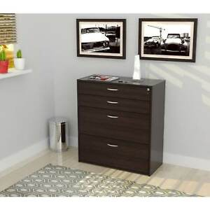Inval Four Drawer File Storage Cabinet With Locking System