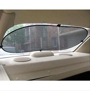 Black Car Rear Back Window Sunscreen Sun Shade Visor Cover Mesh Shield 50x100 Cm