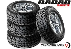 4 New Radar Renegade R 7 M t 35x12 50r20 E 121q Owl Tires