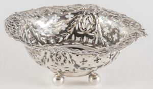 English Antique Sterling Silver Nut Dish