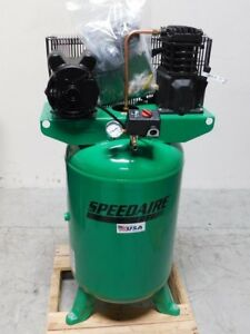 Speedaire 2hp 30 Gal Vertical Stationary Air Compressor 120 240 Vac