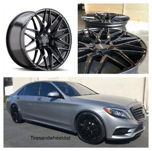 22 Varro Vd06 Wheels Tires Black Concave Fits Mercedes S550 Bentley Gt A7 A8