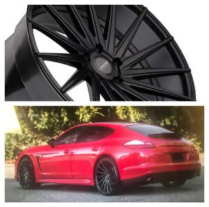 22 Inch Varro Vd15 Wheels Tires Black Porsche Panamera Staggered Rims Concave