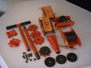 Multiton multiroll Machinery Moving Kit Includes Rollers Skates Handle Pads