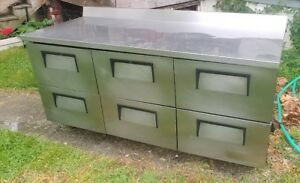 Used 6 Drawer True Make Table Refrigerated Cabinet Recently Serviced 6 Feet Long