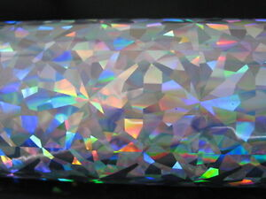 Hot Stamping Foil Holographic Silver Crystals 24 In X 1000 Ft Propiusa