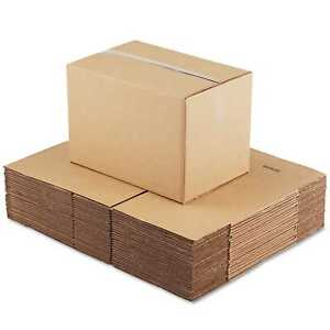General Supply Brown Corrugated Fixed depth Shipping Boxes 18 inch Long X