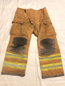 Lion Janesville Firefighter Turnout Gear Bunker Turnout Pants W Liner 38 X 30