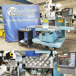 12 X 50 Used Southwestern Industries Prototrak Smx Cnc Bed Milling Machine 2