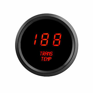 Red Leds Digital Transmission Temperature Gauge Intellitronix Trans Black Bezel