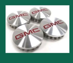 Gmc Brushed Aluminum Wheel Center Caps 22837060 83mm 3 25 Sierra Yukon Denali