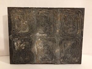 Antique Hand Carved Block Fabric Wallpaper Wooden Print Stamp Large