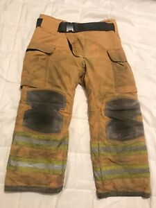 Lion Janesville Firefighter Turnout Pants 38 X 30 With Belt Halloween Costume