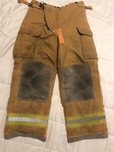 Lion Bodyguard Firefighter Turnout Gear Bunker Turnout Pants W Liner 36 X 30