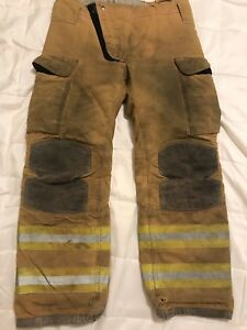 Lion Janesville Firefighter Turnout Gear Bunker Turnout Pants W Liner 38 X 34