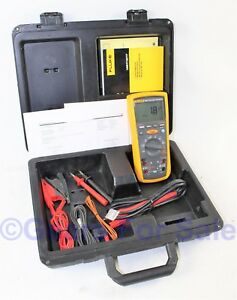 Fluke 1587 Insulation Multimeter In Hard Case And Test Leads Calibrated May 19