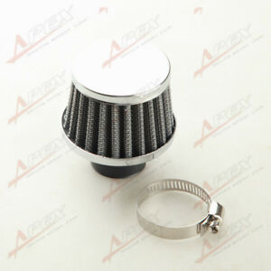 Universal 25mm 1 Car Cold Air Intake Filter Turbo Vent Crankcase Breather Black