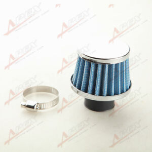 Universal 25mm 1 Car Cold Air Intake Filter Turbo Vent Crankcase Breather Blue