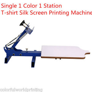 Simple Single 1 Color 1 Station T shirt Silk Screen Printing Machine