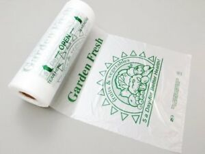 Plastic Bag printed Hdpe 5 a day Produce Rolls 10 x15 11 Mic 3500 Bags case