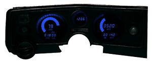 Chevy 1969 Chevelle Digital Dash Panel With Blue Led Gauges Made In The Usa