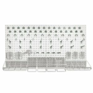 Azar Displays 900988 wht 48 X 24 high Density Fiberboard Pegboard Organizer