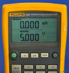 Fluke 724 Temperature Calibrator Nist Calibrated With Leads And Warranty