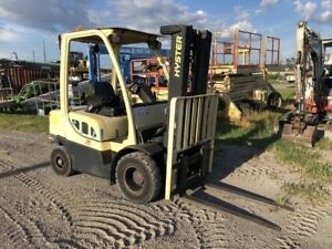 Hyster H50ft 5000lbs Diesel Forklift Solid Pneumatic Tires 189 Lift 4 Spool Con