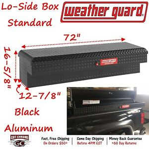 300301 53 01 Weather Guard Defender Black Lo side Mount 72 Truck Toolbox