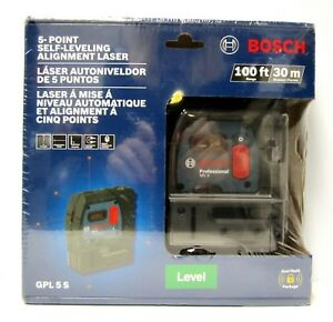 L k Bosch Gpl 5 S 5 point Self Leveling Alignment Laser Plumb And Square Level