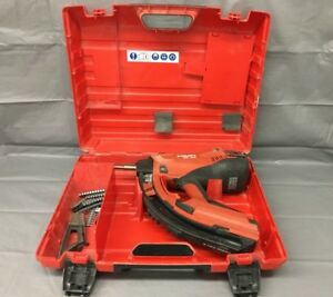 Used Hilti Gx 120 Gas Powered Actuated Nail Gun Fastening Tool