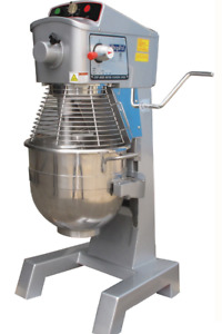 New 2hp Commercial 30 Quart Food Mixer Gear Driven 3 Speeds 3 Attachments timer