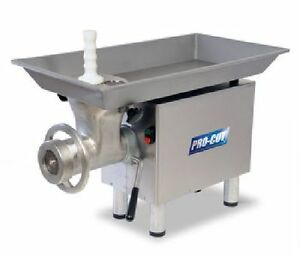 Commercial 22 Butcher Meat Grinder 1 Hp Heavy 120 Volt Free Shipping