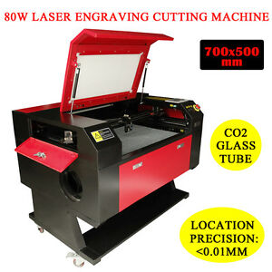 80w Co2 Laser Engraving Cutter Machine Engraver Water Cooling 700x500mm Used