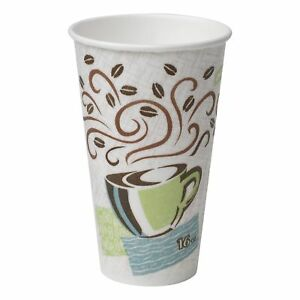 Perfectouch 5356cd Insulated Paper Hot Cup New Coffee Design 16 Oz case Of 20