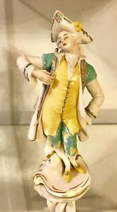 Fabulous 9 Tall Antique Vintage Volkstedt Germany Porcelain Figurine Figure
