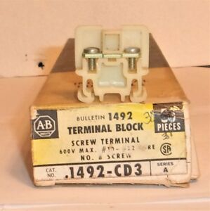 Allen Bradley 1492 Cd3 Terminal Block Screw Terminal 38 Pieces New In The Box