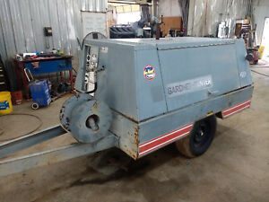 Gardner Denver 190cfm Towable Air Compressor John Deere Diesel Engine 1608 Hours