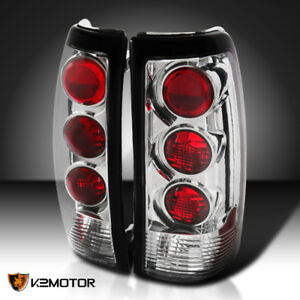 1999 2003 Chevy Silverado Gmc Sierra 1500 2500 3500 Tail Lights Clear Pair