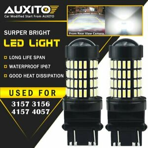 Auxito 2x 3157 3156 Back Up Reverse Light Led Tail Bulb White 6000k For Ford Eoa