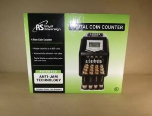 Royal Sovereign Digital 4 Row Electric Coin Sorter Holds Up To 800 Coins