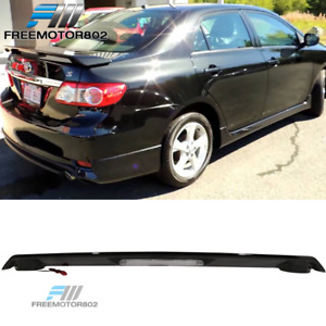 Fits 09 13 Toyota Corolla Sedan Oe Trunk Spoiler Wing Painted Glossy Black
