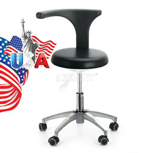 Dental Dentist Doctor Assistant Stool Adjustable Mobile Chair Pu Leather Us Ship