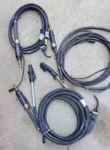 Wire Welding Cable Lot 3 Bernard Magnum 400 As Is Untested
