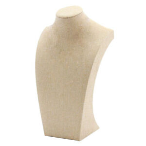 Necklace Pendant Display Bust Mannequin Jewelry Display Stand Linen 18 29cm